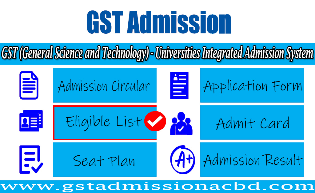 GST Admission Eligible List
